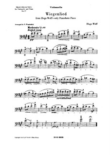 Cradle Song (Berceuse): Cello part by Hugo Wolf
