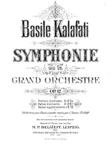 Symphony in A Minor, Op.12: Arrangement for piano four hands by Vasily Kalafati