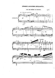 Brilliant Variations on Theme by Rossini, Op.83: Brilliant Variations on Theme by Rossini by Friedrich Kalkbrenner