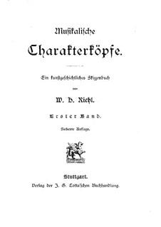 Musikalische Charakterköpfe: Band I by Wilhelm Heinrich Riehl