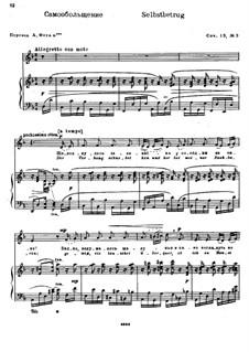 Twelve Songs after Goethe, Op.15: Nr.3 Selbstbetrug by Nikolai Medtner