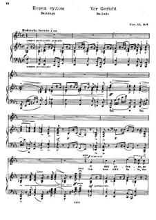 Twelve Songs after Goethe, Op.15: Nr.6 Vor Gericht by Nikolai Medtner