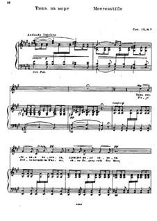 Twelve Songs after Goethe, Op.15: Nr.7 Meeresstille by Nikolai Medtner