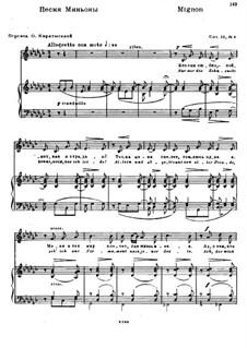 Six Poems after Goethe, Op.18: Nr.4 Mignon by Nikolai Medtner