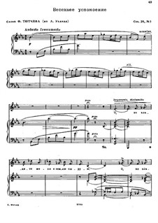 Poems after Fet, Bryusov and Tyutchev, Op.28: No.5 Spring Solac by Nikolai Medtner