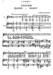 Seven Songs after Pushkin, Op.52: No.3 Elegy by Nikolai Medtner