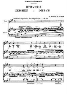 Seven Songs after Pushkin, Op.52: No.4 Omens by Nikolai Medtner