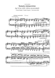 Two Sonatas for Piano, Op.53: No.2 Sonata minacciosa (Tempest Sonata) by Nikolai Medtner