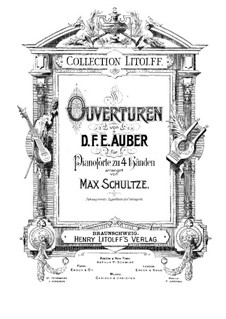Overture: For piano four hands by Daniel Auber