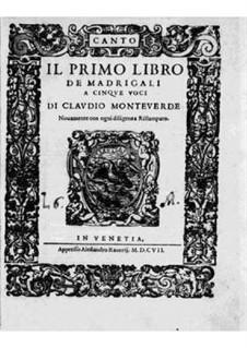Book 1 (a cinque voci), SV 23–39: Parts by Claudio Monteverdi
