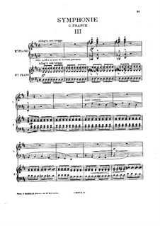 Simphony in D Minor, Op.48: Movement III, for piano four hands by César Franck