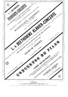 Concerto for Piano and Orchestra No.2, Op.19: Version for piano and string quintet – strings parts by Ludwig van Beethoven