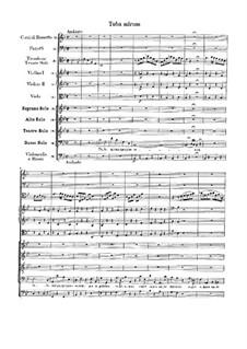 Tuba mirum: Full score by Wolfgang Amadeus Mozart