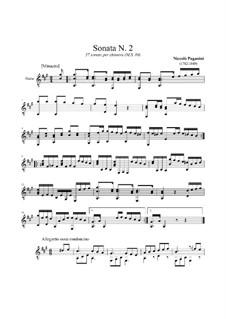 Thirty-Seven Sonatas for Guitar, MS 84: Sonata No.2 by Niccolò Paganini