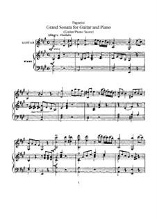 Sonata for Guitar and Piano in A Major: Sonata for Guitar and Piano in A Major by Niccolò Paganini