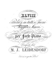 Preludes for Piano: Book II by Maximilian Joseph Leidesdorf