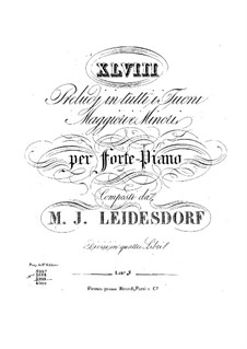 Preludes for Piano: Book III by Maximilian Joseph Leidesdorf