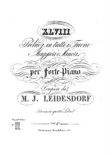 Preludes for Piano: Book IV by Maximilian Joseph Leidesdorf