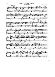 La Gioconda: Dance of the Hours. Moderato. Arrangement for piano by Amilcare Ponchielli