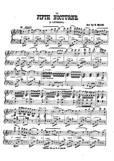 nocturne piano sheet music pdf