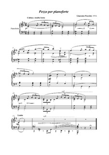 Piece for Piano: Piece for Piano by Giacomo Puccini