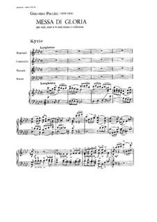 Messa di Gloria: Messa di Gloria by Giacomo Puccini