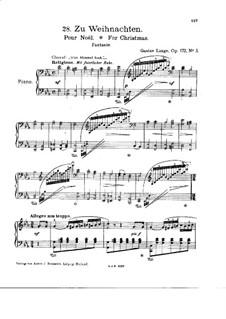 Zu Weihnachten (For Christmas), Op.172 No.5: For piano by Gustav Lange