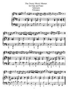 The Trusty Music Master for Flute and Piano: Score and solo part by Georg Philipp Telemann