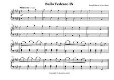 Ballo Tedesco: No.9 by Joseph Haydn