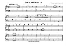 Ballo Tedesco: Nr.3 by Joseph Haydn