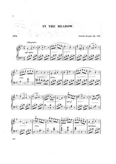 Pieces for Piano, Op.243: In the Meadow by Gustav Lange