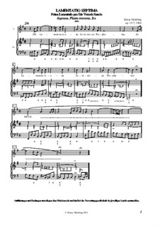 Lamentatio, Op.15: Septima by Klaus Miehling