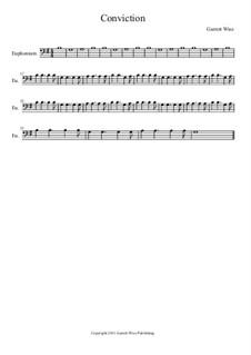 Conviction, Op.1: Euphonium part by Garrett Wise