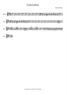 Conviction, Op.1: Horn part by Garrett Wise