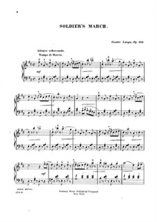 Pieces for Piano, Op.243: Soldier's March by Gustav Lange