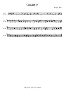 Conviction, Op.1: Tuba part by Garrett Wise