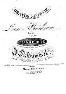 Complete Symphony: Version for flute, violin, cello and piano – parts by Ludwig van Beethoven