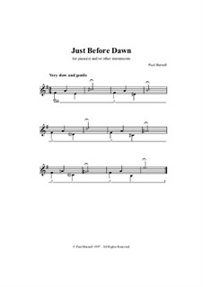 Just Before Dawn, for piano(s) and/or other instruments: Just Before Dawn, for piano(s) and/or other instruments by Paul Burnell