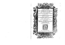 Il terzo libro de varie sonate, sinfonie, gagliarde, brandi, e corrente, Op.12: Il terzo libro de varie sonate, sinfonie, gagliarde, brandi, e corrente by Salamone Rossi