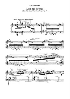 Metopy (Metopes). Three Poemes for Piano, Op.29: For a single performer by Karol Szymanowski