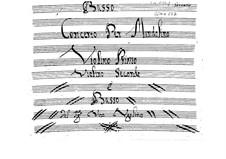 Concerto for Mandolin, Two Violins and Basso Continuo: Parts by Vito Ugolino