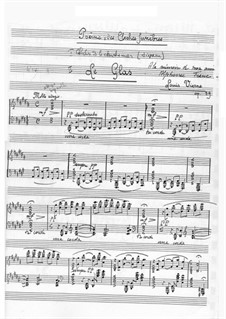 Poems of the Funeral Bells. Le glas, Op.39 No.2: Poems of the Funeral Bells. Le glas by Louis Vierne