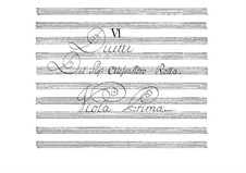 Six Duos for Two Violas, BI 22, 5, 11, 21, 20, 15: Viola I part by Alessandro Rolla