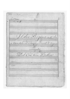 Salve regina: For voice and organ by Vincenzo Bellini