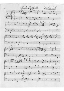 Sonata for Flute and Basso Continuo in C Major: Sonata for Flute and Basso Continuo in C Major by Friedrich Hartmann Graf