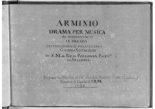 Arminio: Act I by Johann Adolph Hasse