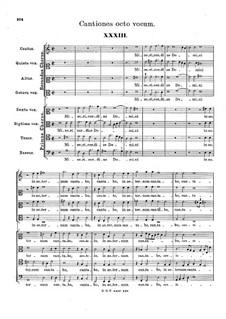 Cantiones octo vocum: Cantiones octo vocum by Hans Leo Hassler