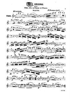 Trio for Flute, Viola and Piano, Op.75: Flute part by Kaspar Kummer