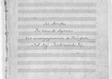 Six Ariettas for Soprano and Piano: Six Ariettas for Soprano and Piano by Ferdinando Paer