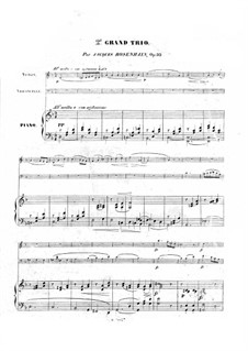Piano Trio No.2 in D Minor, Op.32: Full score by Jacob Rosenhain